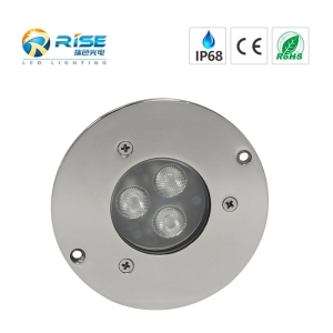 9W, IP68 316SS 3 * 3W led Unterwasser inground Licht